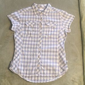 Columbia 100% cotton button up camp shirt size M